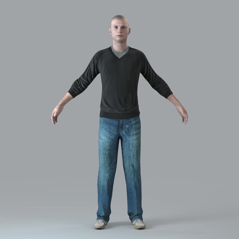 character human 3d model