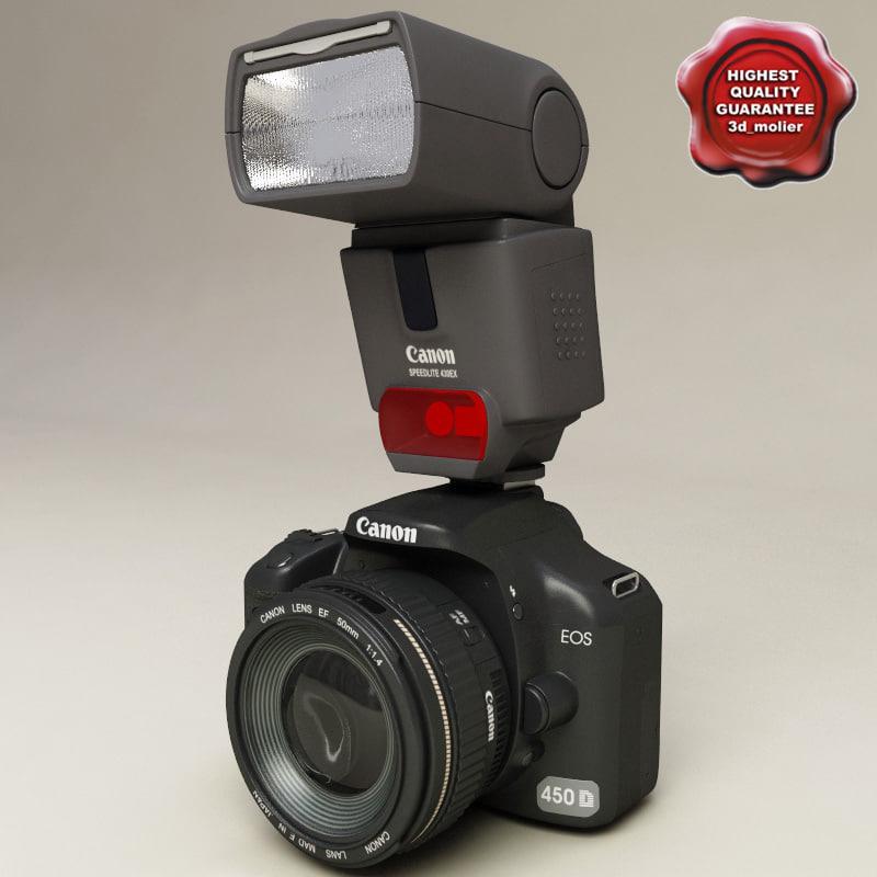 3d model canon eos speedlite 450