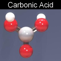 3d model molecule carbonic acid