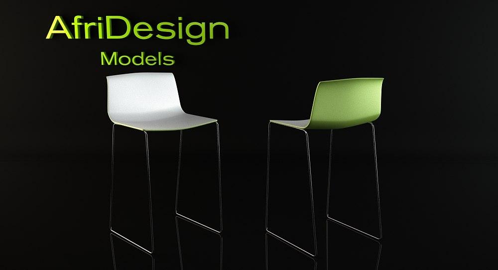 catifa bar chair 3d model