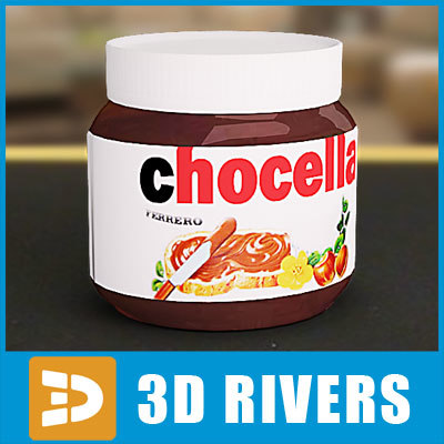 3ds max chocolate spread jar