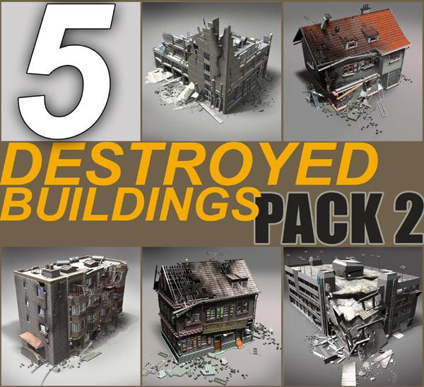 building pack 2 - 3d model
