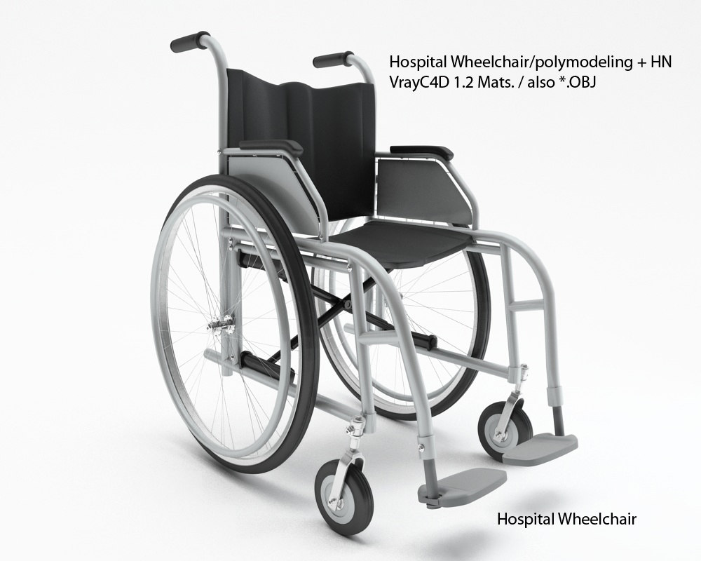 hospital wheelchair 3d model