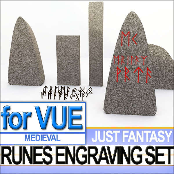 3d complete set runes engraved