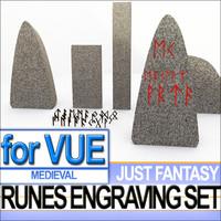 3d complete set runes engraved