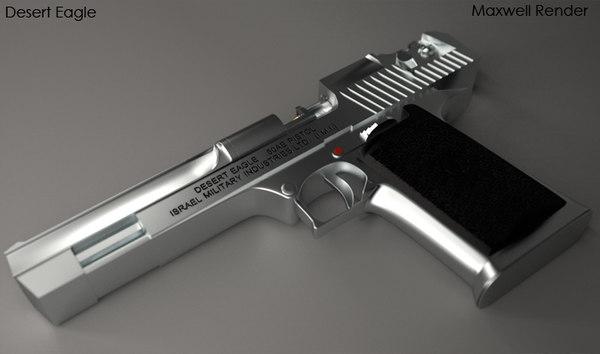 3d 3ds desert eagle pistol