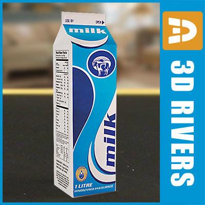 milk bottle 3d max