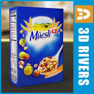 3d box muesli model