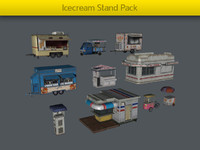 3d pack ice cream stands