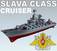 slava class cruiser 3d 3ds