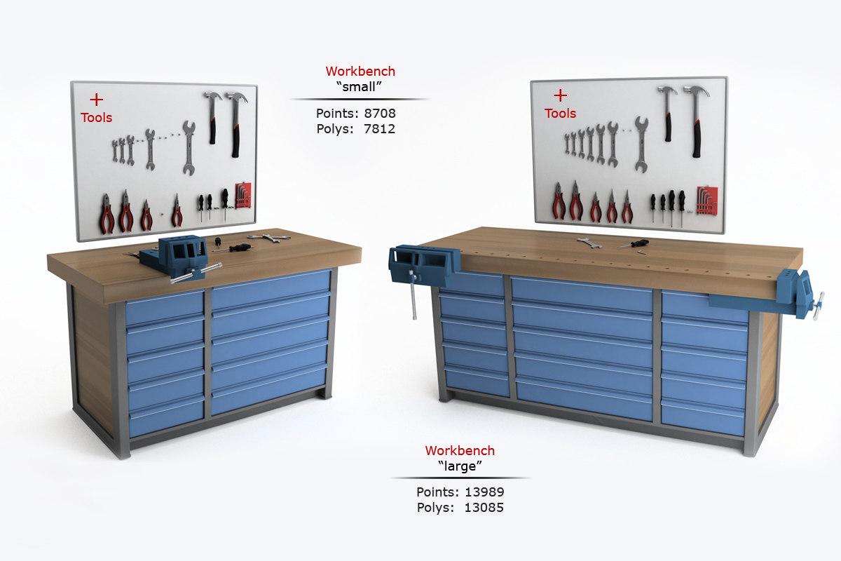 workbench tools 3d model