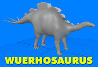 wuerhosaurus 3d model
