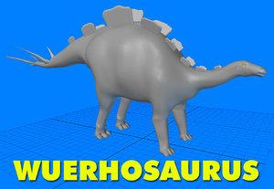 wuerhosaurus 3d model