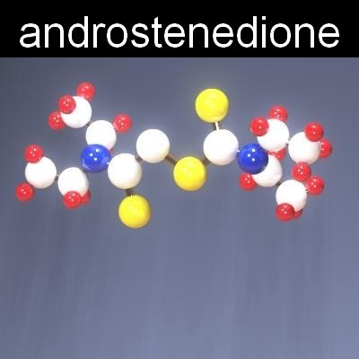 molecule androstenedione 3d model