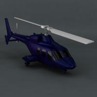 bell 222 2 3d model