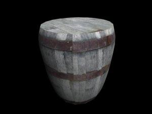 wood barrel 3d max