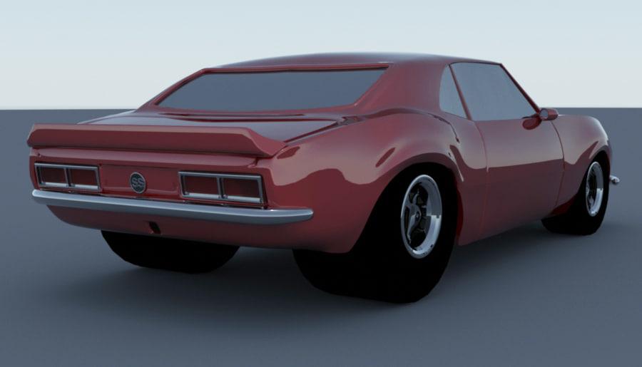 1968 camaro 3d model