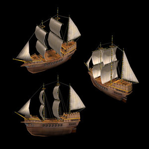 3d model ship carrack