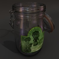 glass jug 3d model