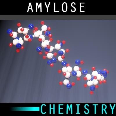 3d molecule amylose