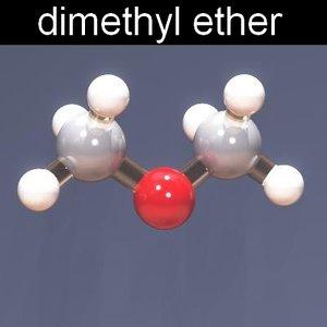 3ds max molecule dimethyl ether