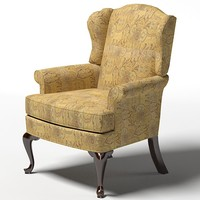 drexel upholstery randolph traditional wing chair armchair colonial style 18 century