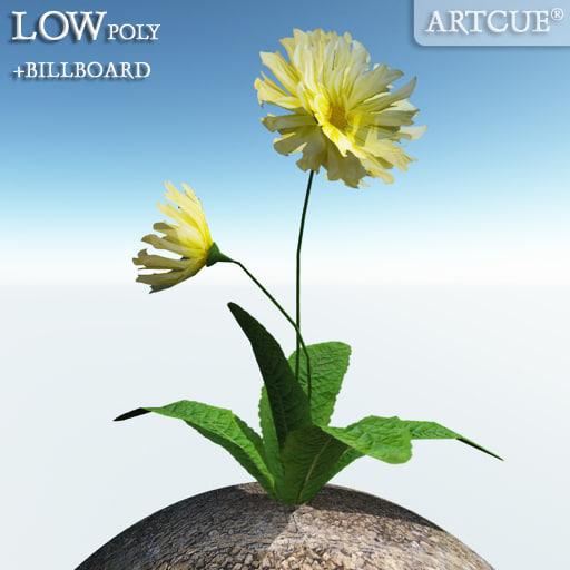 flower billboard plant 3d 3ds