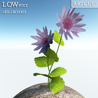 3d flower billboard rib model
