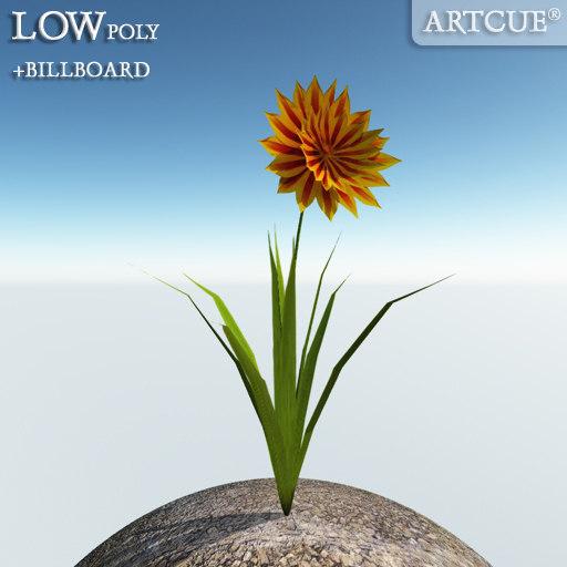 flower billboard rib 3d 3ds