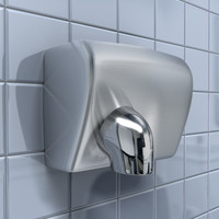chrome hand dryer 3d model