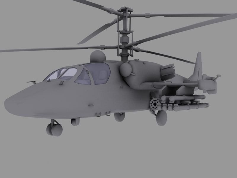3d model ka-52 russian helicopter hocum