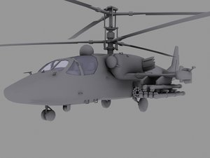 3d model ka-52 russian helicopter hocum