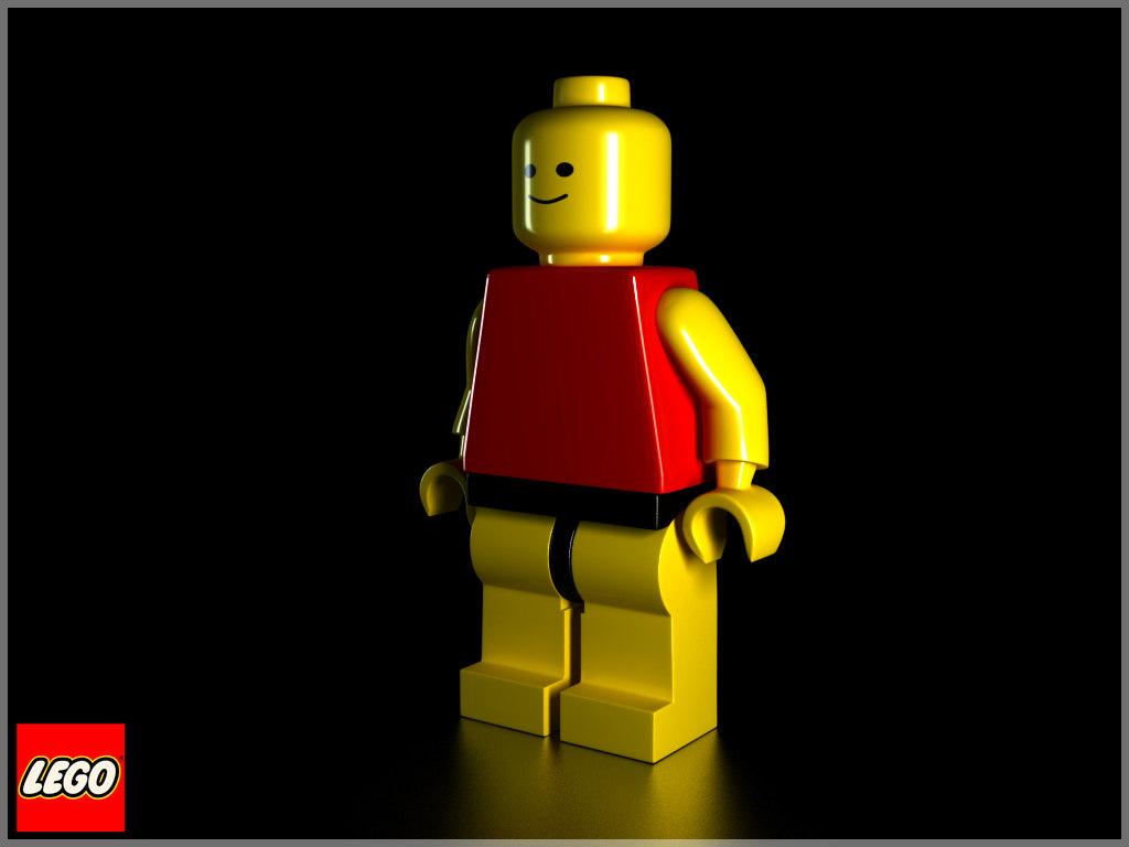 modeled lego figure 3d model