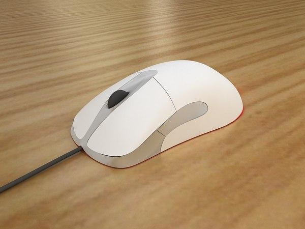microsoft intellimouse optical 3d model