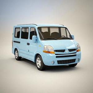 renault master bus - 3d model