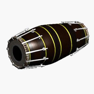 3d max eastern drum