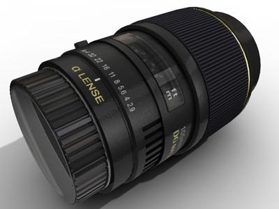 3d model photo lens