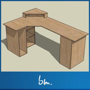 bedroom desk 3ds free