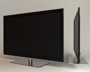 samsung led tv ue40b8000 3d model