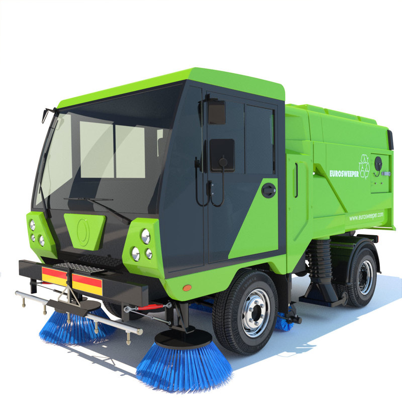 street sweeper scarab 3d 3ds
