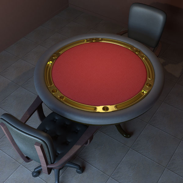 poker tables 3d model