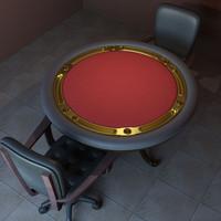 poker tables 3d model