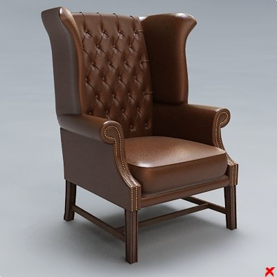 3d chair lounge model