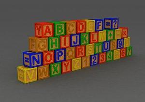 letter block 3d model