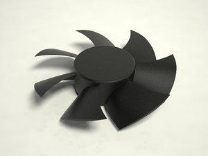 3d computer fan model