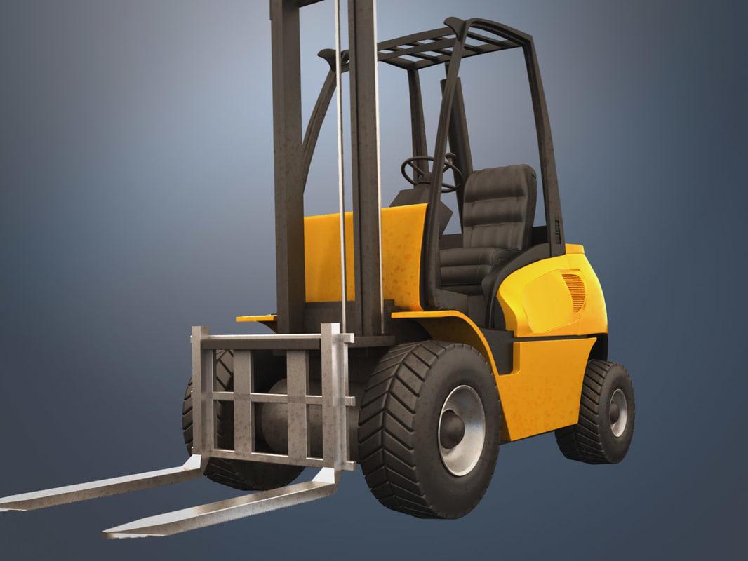 forklift truck 3d 3ds