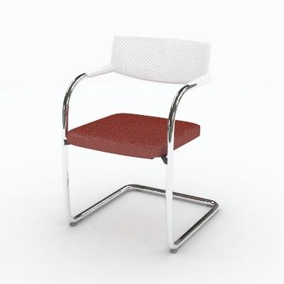 3d model vitra visavis chair
