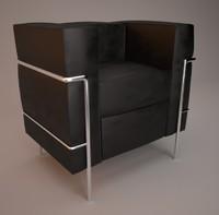 3d buffalo armchair