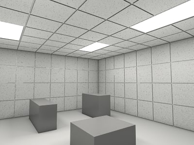 Ceiling Tiles 3D 1   Office Ceiling Tiles   3ds Max 2010 Mental Ray    PROCEDURAL