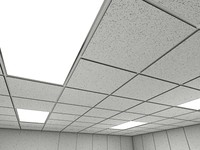 Ceiling Tiles 3D 1 - Office Ceiling Tiles - 3ds max 2010 mental ray - PROCEDURAL